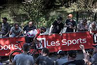 Jelle Vanendert (BEL/Lotto Soudal) leading in the final 150m.<br /> <br /> 82nd La Flèche Wallonne 2018<br /> 1 Day Race: Seraing - Huy (198,5km)