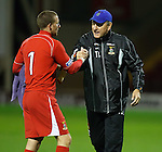 Terry Butcher commiserates with keeper Ryan Esson