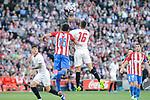 Atletico de Madrid's Stefan Savic and Sevilla's Stevan Jovetic during La Liga match between Atletico de Madrid and Sevilla CF at Vicente Calderon Stadium in Madrid, Spain. March 19, 2017. (ALTERPHOTOS/BorjaB.Hojas)