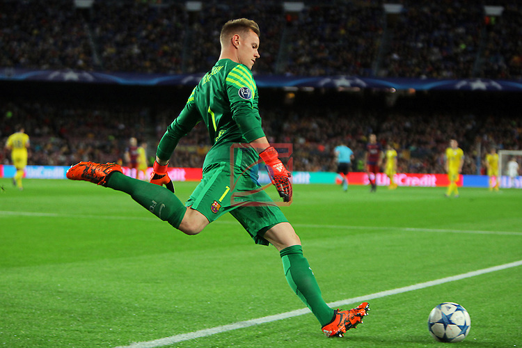 UEFA Champions League 2015-2016. Matchday 4.<br /> FC Barcelona vs FC BATE Borisov: 3-0.<br /> Marc-Andre ter Stegen.