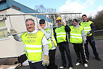 SWALEC Volunteers working at Maesybryn Primary School..L-R: Ian Blair, Robert Thomas, Jason Lee, Shawne Huxton & Jason Maunder..05.03.12.©STEVE POPE