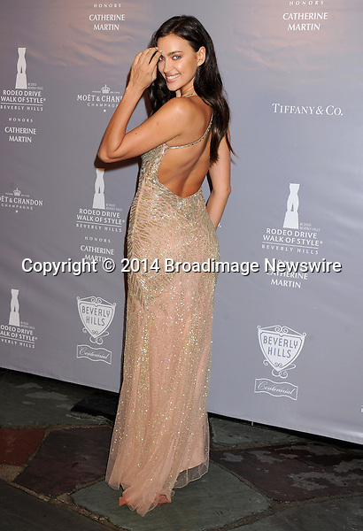 Pictured: Irina Shayk<br /> Mandatory Credit &copy; Gilbert Flores/Broadimage<br /> 2014 Rodeo Drive Walk of Style<br /> <br /> 2/28/14, Beverly Hills, California, United States of America<br /> <br /> Broadimage Newswire<br /> Los Angeles 1+  (310) 301-1027<br /> New York      1+  (646) 827-9134<br /> sales@broadimage.com<br /> http://www.broadimage.com