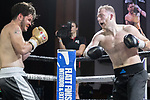 George Jackson vs Tawfiq O'Connor Contest During EBA Boxing: Prizefighter. Photo by: Simon Downing.<br /> <br /> Saturday July 29th 2017 - Grays Civic Hall, Grays, Essex, United Kingdom.