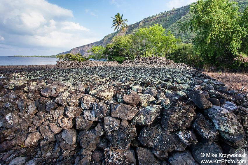 Hikiau Heiau, Kealakekua Bay, Big Island, Hawaii
