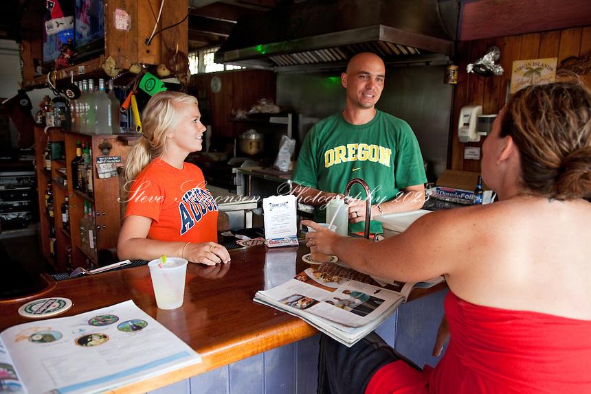 Skinny Legs Bar and Restaurant.Coral Bay, St John.U.S. Virgin Islands
