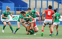 Ireland's Sene Naoupu is tackled by Wales' Rebecca De Filippo<br /> <br /> Photographer Ian Cook/CameraSport<br /> <br /> Women's Six Nations Round 4 - Wales Women v Ireland Women - Saturday 11th March 2017 - Cardiff Arms Park - Cardiff<br /> <br /> World Copyright &copy; 2017 CameraSport. All rights reserved. 43 Linden Ave. Countesthorpe. Leicester. England. LE8 5PG - Tel: +44 (0) 116 277 4147 - admin@camerasport.com - www.camerasport.com
