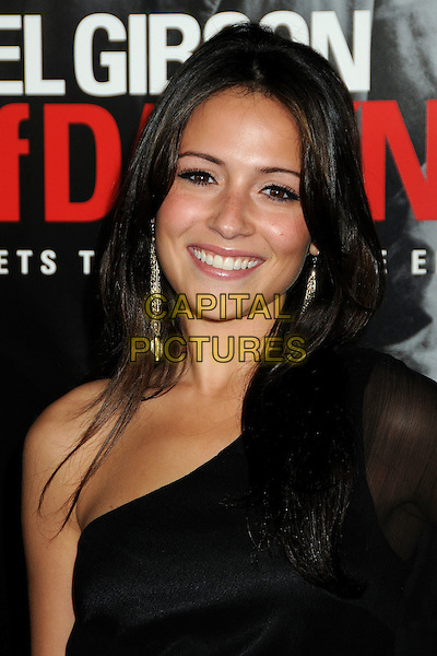 "ITALIA RICCI .Attending the ""Edge of Darkness"" Los Angeles Premiere held at Grauman's Chinese Theatre, Hollywood, California, USA, 26th January 2010..arrivals portrait headshot one shoulder black smiling gold dangly earrings .CAP/ADM/BP.©Byron Purvis/AdMedia/Capital Pictures."