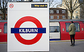 Kilburn underground station, London.