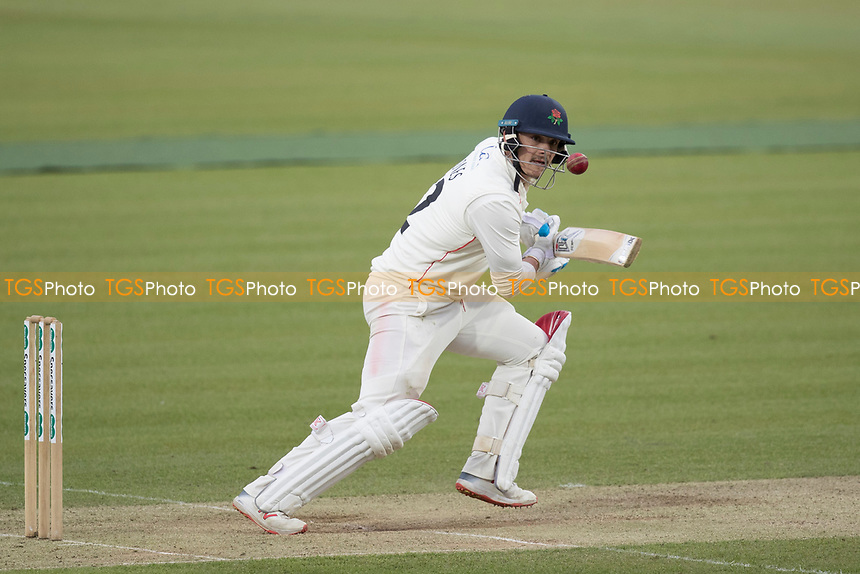 Rob Jones of Lancashire CCC  guides the ball to third during Middlesex CCC vs Lancashire CCC, Specsavers County Championship Division 2 Cricket at Lord's Cricket Ground on 12th April 2019