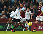 Clayton Donaldson of Sheffield Utd turns Ahmed Elmohamady of Aston Villa during the Championship match at Villa Park Stadium, Birmingham. Picture date 23rd December 2017. Picture credit should read: Simon Bellis/Sportimage