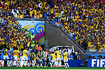 Brazil team group (BRA),<br /> JUNE 28, 2014 - Football / Soccer :<br /> Brazil team group celebrate the opening goal by David Luiz during the FIFA World Cup Brazil 2014 Round of 16 match between Brazil 1(3-2)1 Chile at Estadio Mineirao in Belo Horizonte, Brazil. (Photo by D.Nakashima/AFLO)