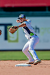 3 September 2018: Vermont Lake Monsters infielder Joseph Pena in action against the Tri-City ValleyCats at Centennial Field in Burlington, Vermont. The Lake Monsters defeated the ValleyCats 9-6 in the last game of the 2018 NY Penn League regular season. Mandatory Credit: Ed Wolfstein Photo *** RAW (NEF) Image File Available ***