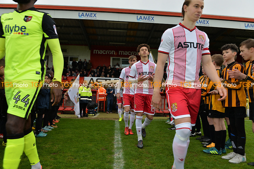Players arrive  during Stevenage vs Exeter City, Sky Bet EFL League 2 Football at the Lamex Stadium on 28th April 2018