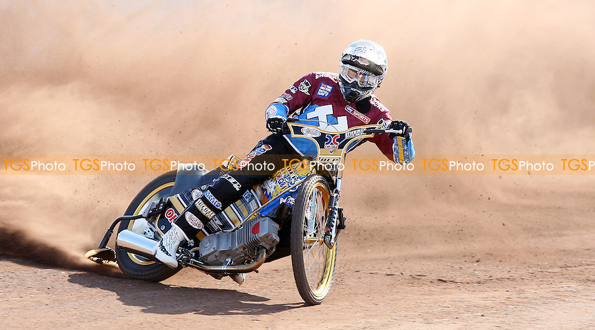 Kim Nilsson of Lakeside Hammers - Lakeside Hammers Press & Practice Day at the Arena Essex Raceway, Pufleet - 20/03/12 - MANDATORY CREDIT: Rob Newell/TGSPHOTO - Self billing applies where appropriate - 0845 094 6026 - contact@tgsphoto.co.uk - NO UNPAID USE..