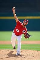 Buffalo Bisons starting pitcher Mike Bolsinger (45) during a game against the Lehigh Valley IronPigs on August 28, 2016 at Coca-Cola Field in Buffalo, New York.  Lehigh Valley defeated Buffalo 5-2.  (Mike Janes/Four Seam Images)