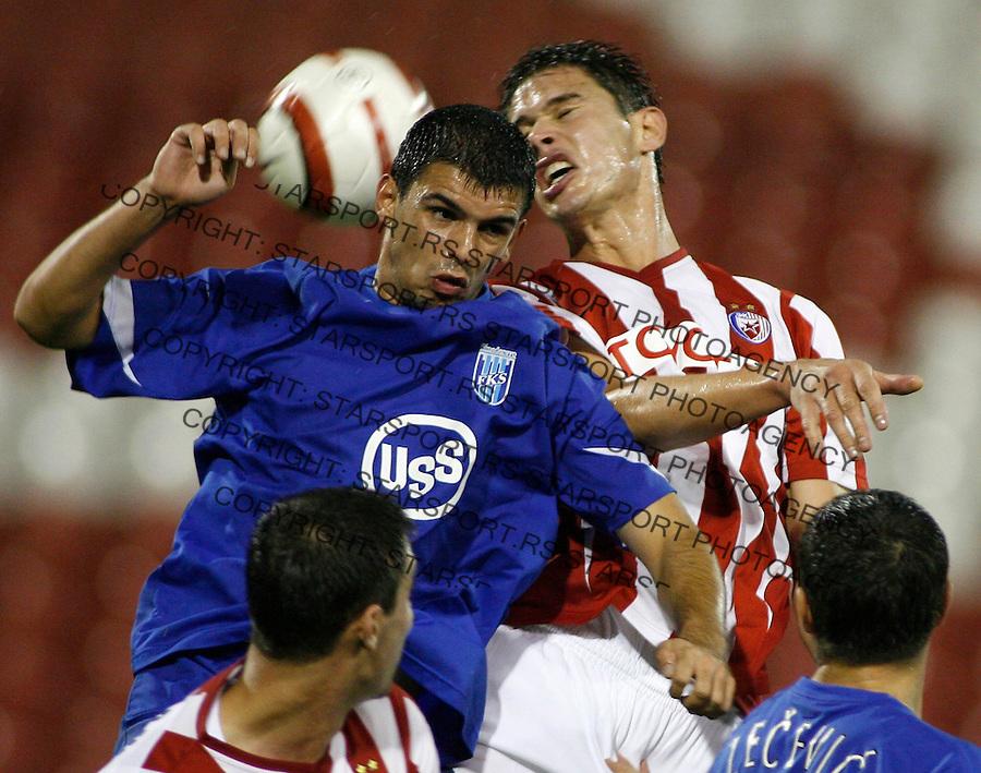 Fudbal, SUPER LIGA, season 2006/07&amp;#xA;Smederevo-Crvena Zvezda&amp;#xA;Nikola Zigic, above right&amp;#xA;Beograd, 13.07.2006.&amp;#xA;foto: SRDJAN STEVANOVIC<br />