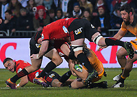 Action from the 2019 Super Rugby final between the Crusaders and Jaguares at Orangetheory Stadium in Christchurch, New Zealand on Saturday, 6 July 2019. Photo: Dave Lintott / lintottphoto.co.nz