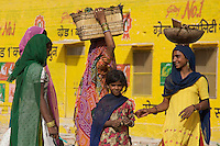 General Street scene in Bikaner located in the Thar Desert,Rajasthan India,