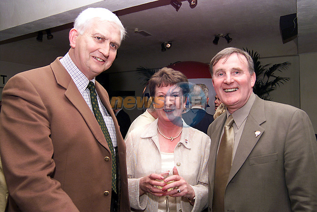 Cllr. Shaun Lynch with John and Helene little at the launch of John Little's new venture with Re Max..Picture: Paul Mohan/Newsfile