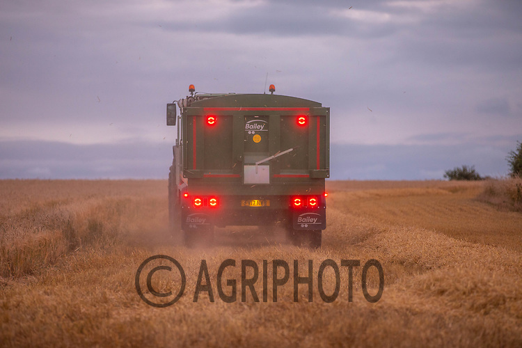 23.7.2020 Harvesting Winter Barley as the sunsets in Rutland<br /> ©Tim Scrivener Photographer 07850 303986<br />      ....Covering Agriculture In The UK.