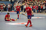 Mannheim, Germany, January 08: During the 1. Bundesliga men indoor hockey match between TSV Mannheim and Mannheimer HC on January 8, 2020 at Primus-Valor Arena in Mannheim, Germany. Final score 5-4. (Photo by Dirk Markgraf / www.265-images.com) *** Paul Zmyslony #13 of Mannheimer HC