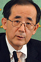 January 25, 2013, Tokyo, Japan - Gov. Masaaki Shirakawa of Bank of Japan speaks during a news conference at the Japan National Press Club in Tokyo on Friday, January 25, 2013. The Bank of Japan set a two percent inflation target under pressure from Japanese Prime Minister Shinzo Abe, who has asked the central bank to take more action to overcome chronic deflation and the strong yen. Shirakawa's term as the country's central bank chief will end in two months and Toshiro Muto, an ex-BoJ deputy governor?has been rumored to replace Shirakawa. (Photo by Kaku Kurita/AFLO).