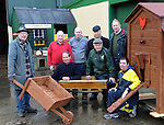 Donal Hickey Xmas story MENS SHED: Pictured at the Men's Shed in Killarney are  from left, John Harmon, Mike Myres, Pat O'Brien, Liam Fleming, George Kelly and in front John Quill, Mort Galvin and John O'Sullivan.<br /> Picture by Don MacMonagle