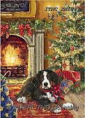 Marcello, CHRISTMAS ANIMALS, WEIHNACHTEN TIERE, NAVIDAD ANIMALES, paintings+++++,ITMCXM1347,#XA# ,fireplace