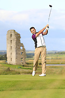 Gary O'Flaherty (Cork) on the 13th tee during Round 2 of The South of Ireland in Lahinch Golf Club on Sunday 27th July 2014.<br /> Picture:  Thos Caffrey / www.golffile.ie