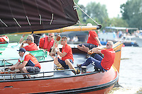 ZEILEN: FRYSLÂN: 2014, SKS skûtsjesilen, skûtsje Gerben van Manen, Heerenveen, schipper Alco Reijenga, ©foto Martin de Jong
