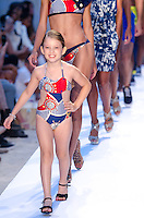 Model walks runway at A.Z Araujo Swimwear Show during Mercedes Benz IMG Fashion Swim Week 2014 at The Raleigh Hotel, Miami Beach, FL on July 21, 2013