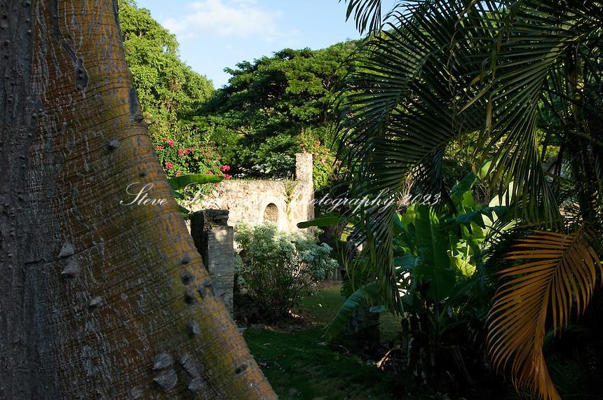 The sugar mill ruins at Estate Washington<br /> St. Croix US Virgin Islands