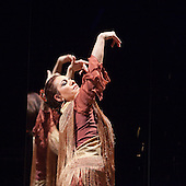 LONDON, ENGLAND - Ballet Flamenco Eva Yerbabuena at Sadler's Wells Flamenco Festival, Eva Yerbabuena dancing in front of a mirror