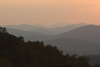 Blue Ridge Mountains sunset.