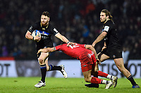 Max Wright of Bath Rugby takes on the Toulouse defence. Heineken Champions Cup match, between Stade Toulousain and Bath Rugby on January 20, 2019 at the Stade Ernest Wallon in Toulouse, France. Photo by: Patrick Khachfe / Onside Images