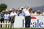 Paul Lawrie (SCO) tees off on the 1st tee during Day 1 of the Open de Espana at Real Club De Golf El Prat, Terrasa, Barcelona, 5th May 2011. (Photo Eoin Clarke/Golffile 2011)