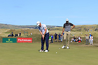 Cian McNamara (IRL) on the 9th green during Round 2 of the Dubai Duty Free Irish Open at Ballyliffin Golf Club, Donegal on Friday 6th July 2018.<br /> Picture:  Thos Caffrey / Golffile