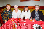 Bernadette Tagney,  Angela Walsh, Phil Barrett and Marie Brosnan enjoying Womens Christmas in the Munster Bar on Saturday.