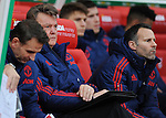 Manchester United Manager Louis van Gaal and Manchester United Assistant Manager Ryan Giggs<br /> - Barclays Premier League - Stoke City vs Manchester United - Britannia Stadium - Stoke on Trent - England - 26th December 2015 - Pic Robin Parker/Sportimage