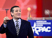United States Senator Ted Cruz (Republican of Texas) speaks at the Conservative Political Action Conference (CPAC) at the Gaylord National at National Harbor, Maryland on Thursday, February 26, 2015.<br /> Credit: Ron Sachs / CNP