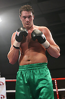 Tyson Fury (Manchester, green shorts) defeats Daniel Peret (Norway, black shorts) in a Heavyweight boxing contest at Norfolk Showground, Norwich, promoted by Hennessy Sports - 01/03/09 -
