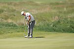 19 MAY 2016: Matt Hutchins of Chico St. attempts a putt during the 2016 Division II Men's Individual Golf Championship held at Green Valley Ranch Golf Club in Denver, CO. Justin Tafoya/NCAA Photos
