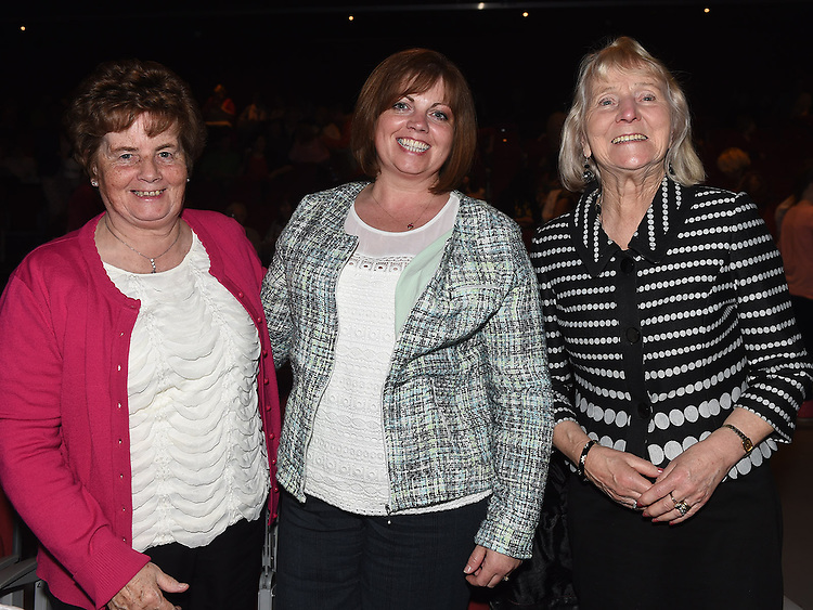 Anne Collins, Vivienne and Kay Byrne pictured at the Drogheda Town FC dance show in the TLT. Photo:Colin Bell/pressphotos.ie