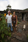 Owners of the old village of Adeia da Cuada.  Flores Island..