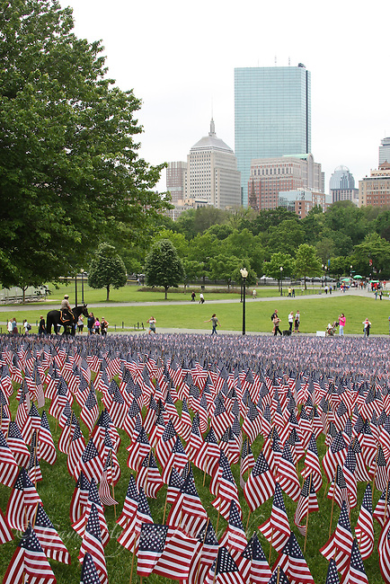 Memorial Day flag field. Boston, MA