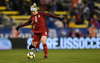 Columbus, Ohio - Thursday March 01, 2018: Julie Ertz during a 2018 SheBelieves Cup match between the women's national teams of the United States (USA) and Germany (GER) at MAPFRE Stadium.