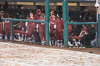 STANFORD, CA -- March 2, 2019. The Stanford Cardinal women's softball team defeats the Montana Grizzlies 8-0 at the Smith Family Stadium.