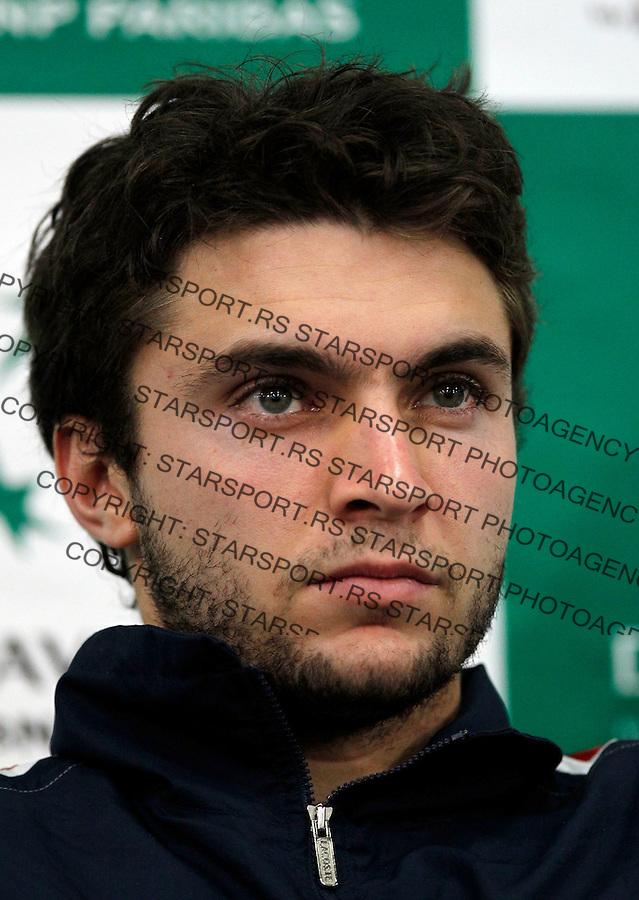 Tenis, Davis Cup 2010.Serbia Vs. France, final.Press conference.Gilles Simon.Beograd, 30.11.2010..foto: Srdjan Stevanovic/Starsportphoto ©