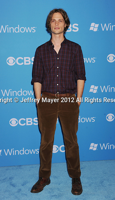 WEST HOLLYWOOD, CA - SEPTEMBER 18: Matthew Gray Gubler arrives at the CBS 2012 fall premiere party at Greystone Manor Supperclub on September 18, 2012 in West Hollywood, California.