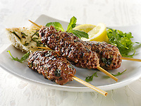 Kofte Kebab with salad & lemnon wedges